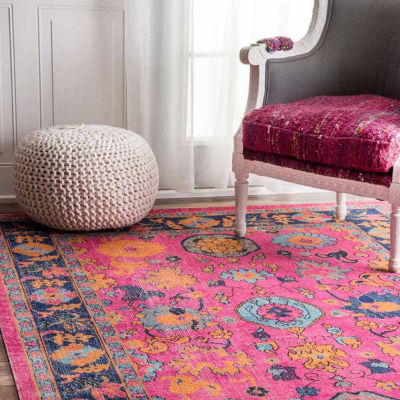nuLoom Persian Floral Garden Rug