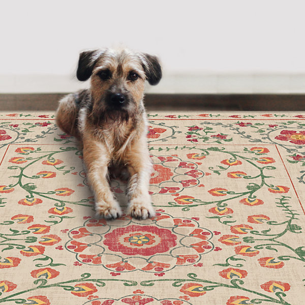 RUGGABLE Suzi Washable Indoor Outdoor Stain Resistant Pet Area Rug