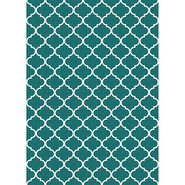 RUGGABLE Trellis Washable Indoor/Outdoor Stain Resistant Pet Rug