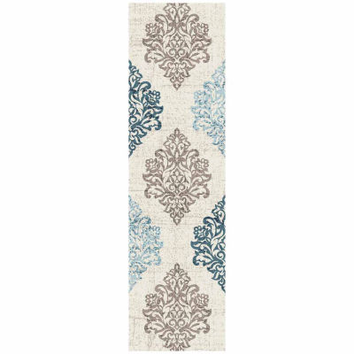 World Rug Gallery Transitional Damask High Quality Rectangular Rugs