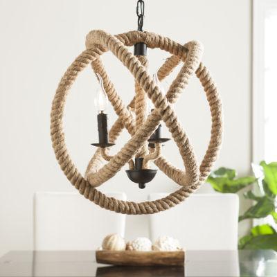 Modern Life Furniture  3-Light Rope Orb Pendant Lamp