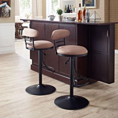 Jasper Upholstered Swivel Counter Stool
