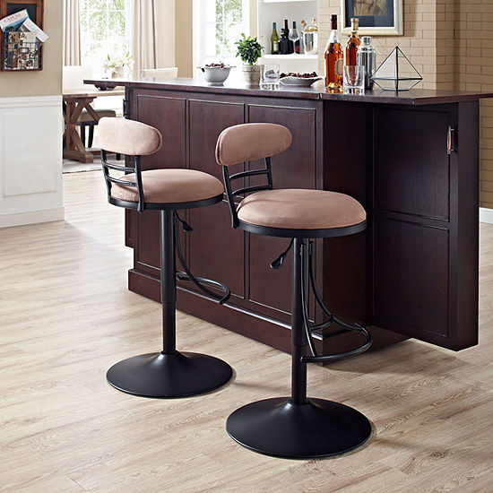 Jasper Upholstered Swivel Counter Stool