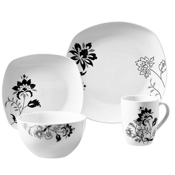 Tabletops Unlimited Decal \u0026 White 16-pc. Dinnerware Set  sc 1 st  JCPenney & Tabletops Unlimited Decal \u0026 White 16-pc. Dinnerware Set - JCPenney