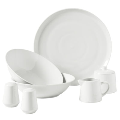 Tabletops Unlimited Decal & White 8-pc. Serving Set