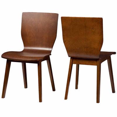Baxton Studio Elsa Mid-Century Modern 2-pack Side Chair