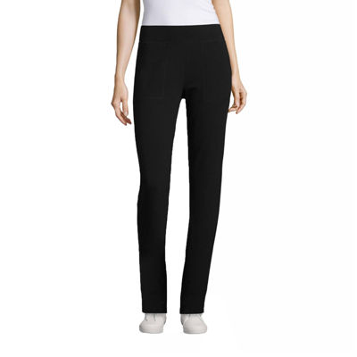 St. John's Bay Active French Terry Slim Leg Pants