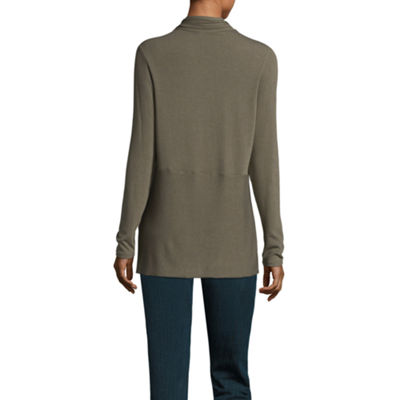 St. John's Bay Long Sleeve Open Front Cardigan