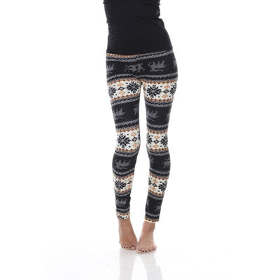 White Mark Knit Leggings