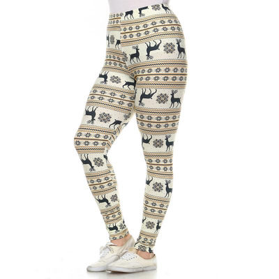 White Mark Printed Leggings - Plus