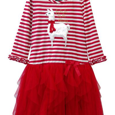 Lilt 3/4 Sleeve Tutu Dress Girls