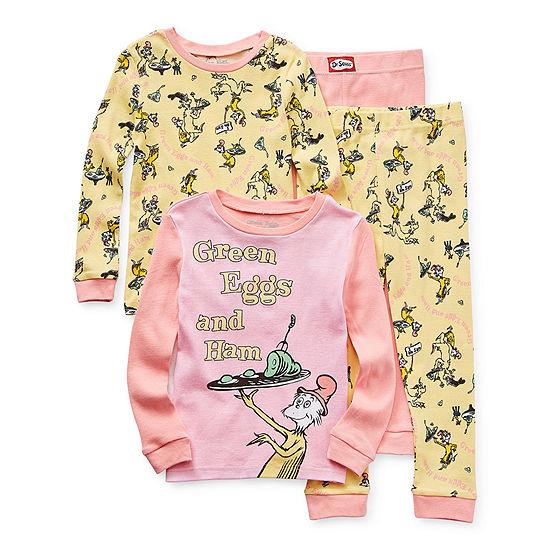 Toddler Girls 4-pc. Dr. Seuss Pajama Set