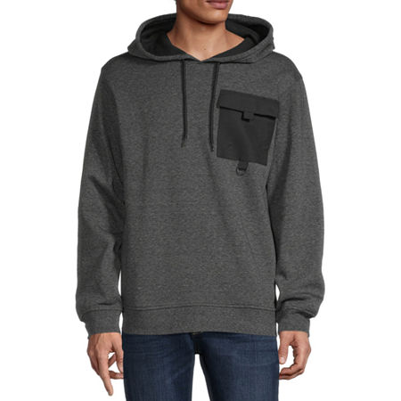 Hollywood Mens Long Sleeve Hoodie, Small , Black