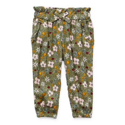 Okie Dokie Baby Girls Mid Rise Skinny Pull-On Pants