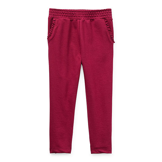 Okie Dokie Toddler Girls Straight Jogger Pant