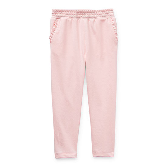 Okie Dokie Little Girls Straight Jogger Pant
