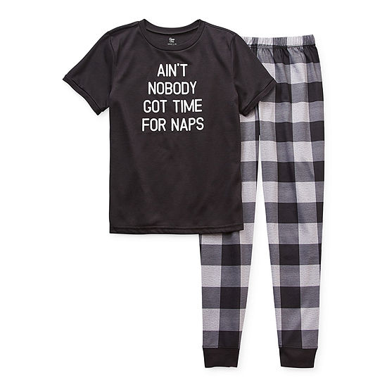 Sleep Chic Little & Big Unisex Husky 2-pc. Pant Pajama Set
