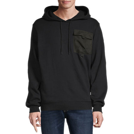 Hollywood Mens Long Sleeve Hoodie, Medium , Black