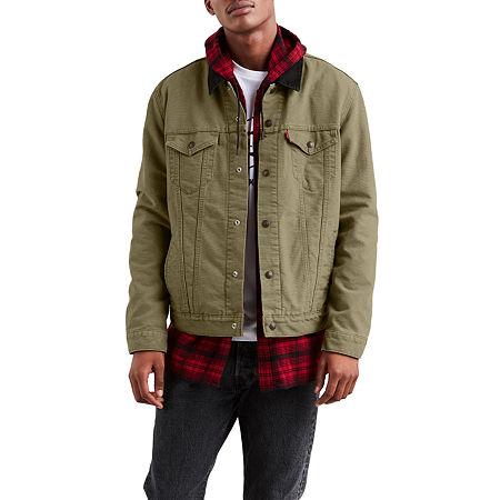 Levi's Lined Trucker Lightweight Denim Jacket, Small , Green