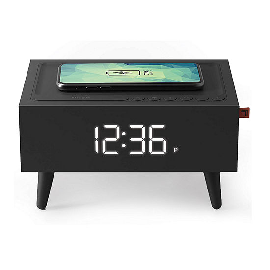 Sharper Image Wireless Charging Clock Radio + Speaker
