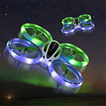 Sharper Image 2.4GHz RC Glow Up Stunt Drone with LED Lights