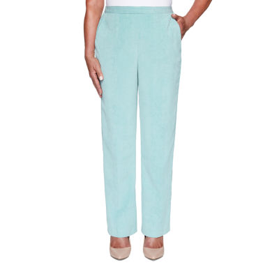 Alfred Dunner St Moritz Womens Straight Corduroy Pant