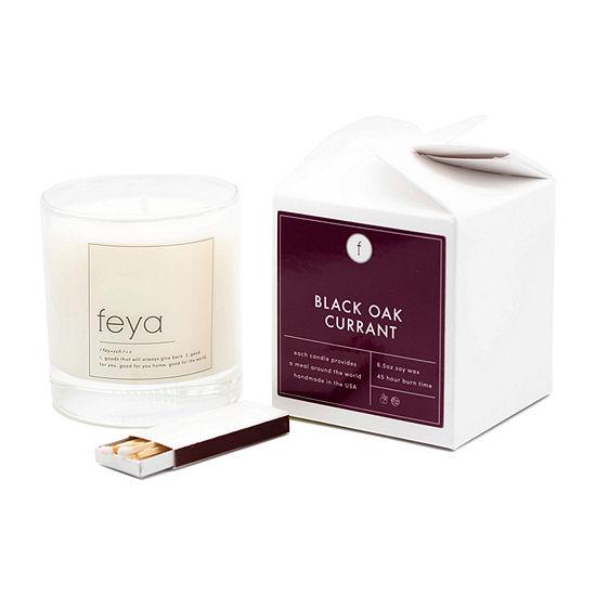 Feya Candle 6.5oz Black Oak Currant Soy Candle