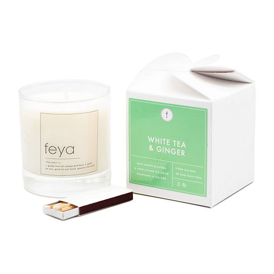Feya Candle 6.5oz White Tea & Ginger Soy Candle