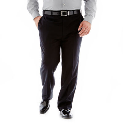 Stafford® Executive Super 100 Wool Suit Flat-Front Suit Pants – Portly