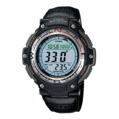 Casio® Twin Sensor Mens Compass/Thermometer Digital Sport Watch SGW100B-3V