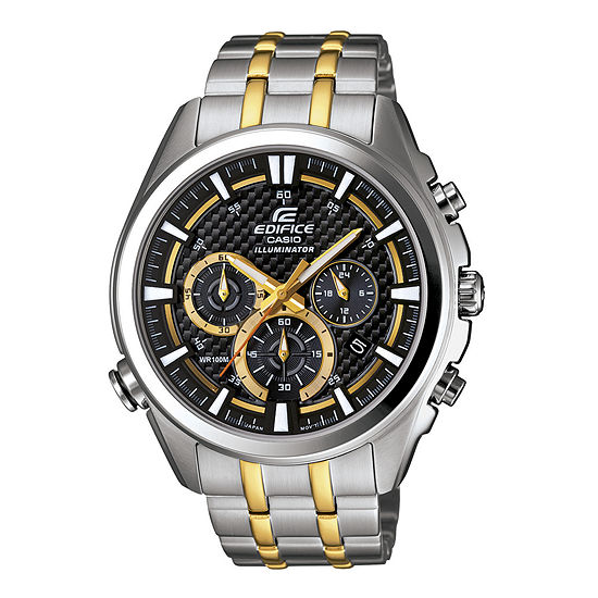 Casio Edifice Mens Two Tone Stainless Steel Bracelet Watch-Efr537sg-1av