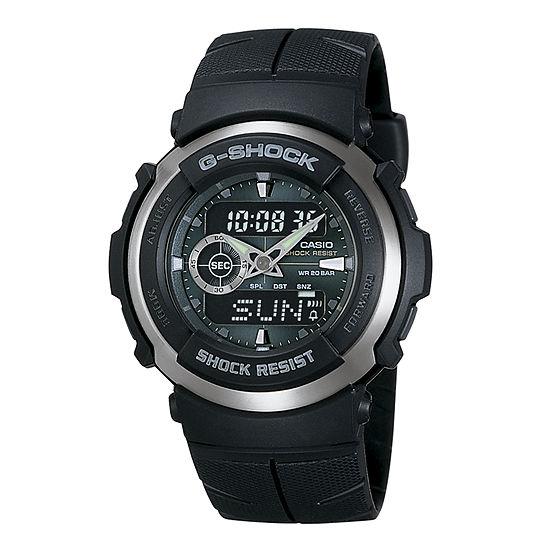 Casio G-Shock Mens Black Strap Watch-G300-3av