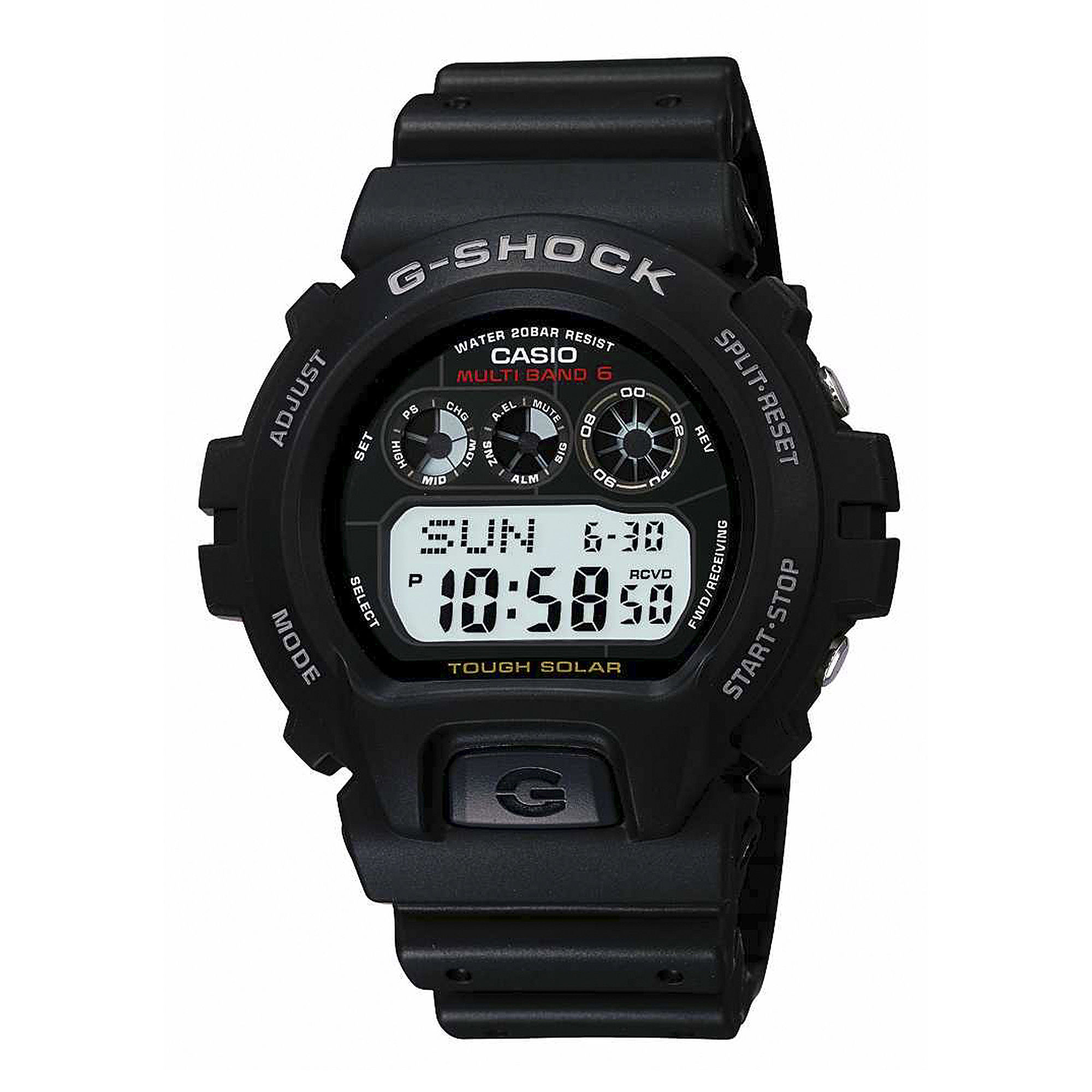 Casio G-Shock Tough Solar Mens Atomic Timekeeping Digital Sport Watch GW6900-1
