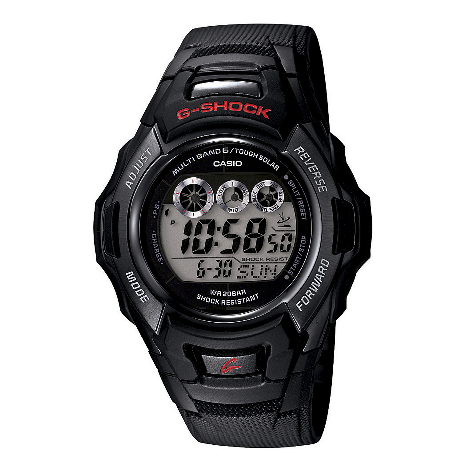 Casio G-Shock Tough Solar Mens Atomic Timekeeping Digital Sport Watch GWM530A-1