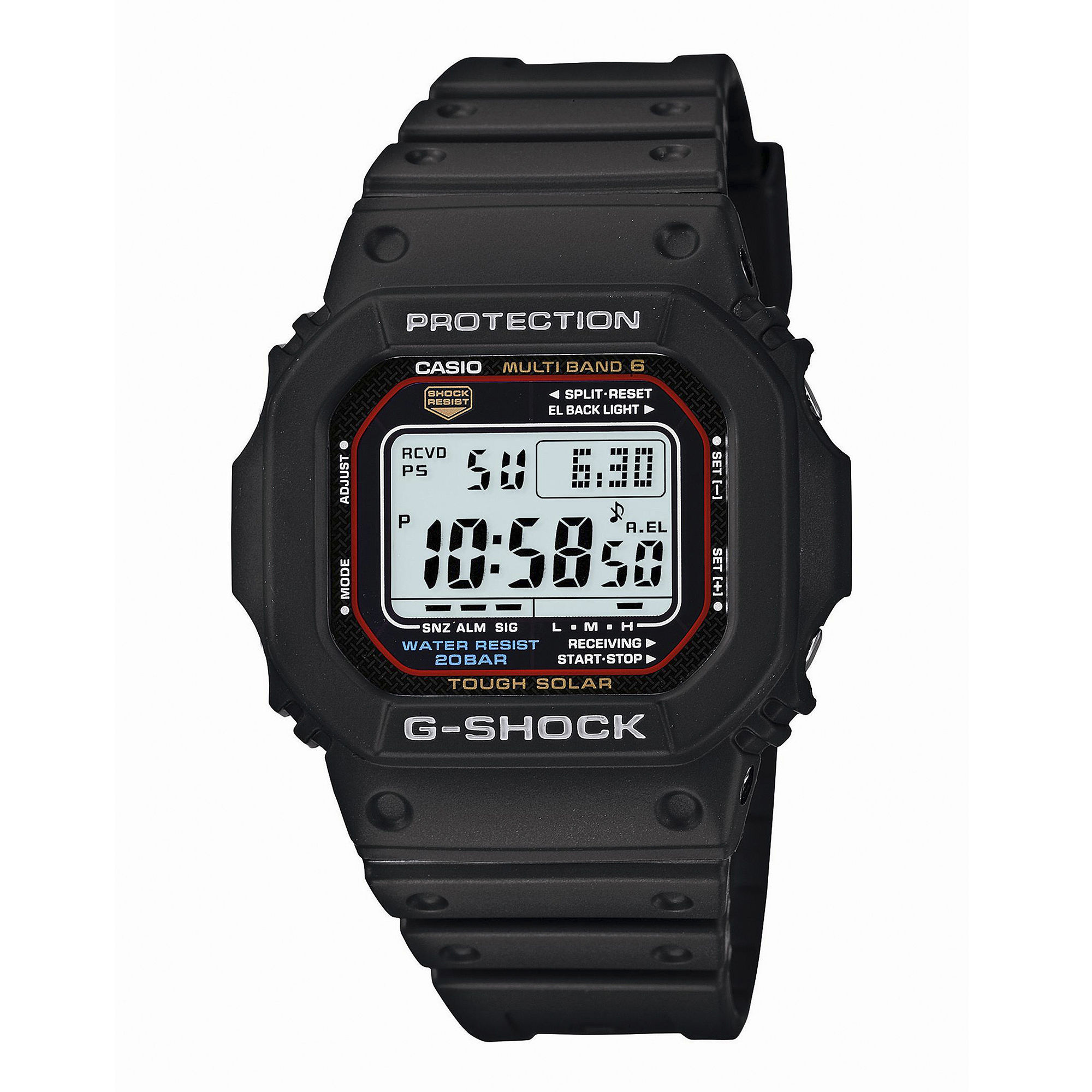 Casio G-Shock Tough Solar Mens Atomic Timekeeping Chronograph Watch GWM5610-1CR