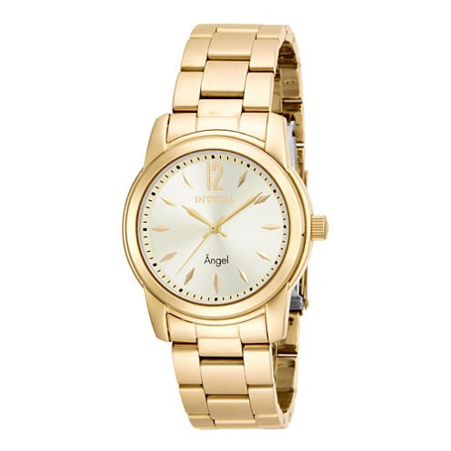 Invicta® Angel Womens Gold-Tone Stainless Steel Watch 17420