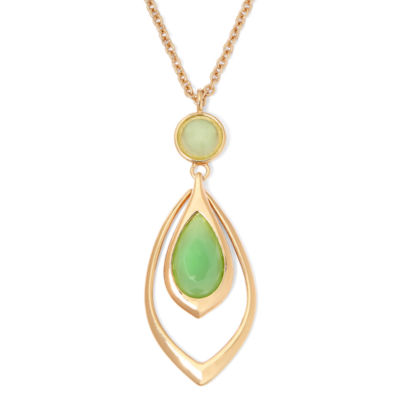 Liz Claiborne® Green Stone Pendant Necklace
