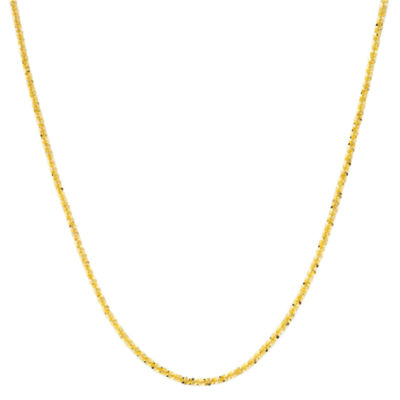 """Made in Italy 18K Gold Over Sterling Silver 20"""" Criss-Cross Chain"""