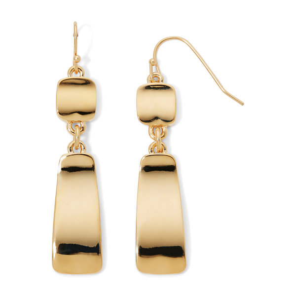 Liz Claiborne® Gold-Tone Bar Earrings