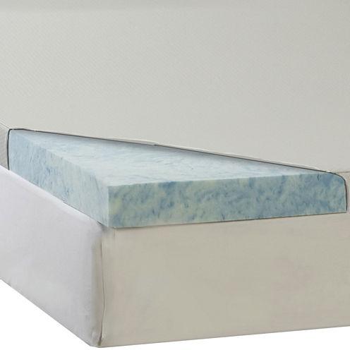 "Comforpedic from Beautyrest® 4"" Gel Memory Foam Topper with Waterproof Cover"