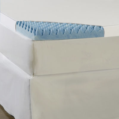 "Comforpedic from Beautyrest® 3"" Textured Gel Memory Foam Topper with 300TC Cover"