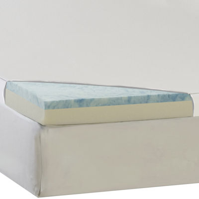 "Comforpedic from Beautyrest® 3"" Select Gel Memory Foam Topper with 300TC Cover"