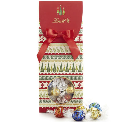 Lindt Lindor Assorted Truffles Holiday Trees Gift Box