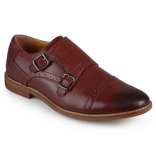 Vance Co Mens Wayne Monk-Strap Slip-On Shoe Round Toe