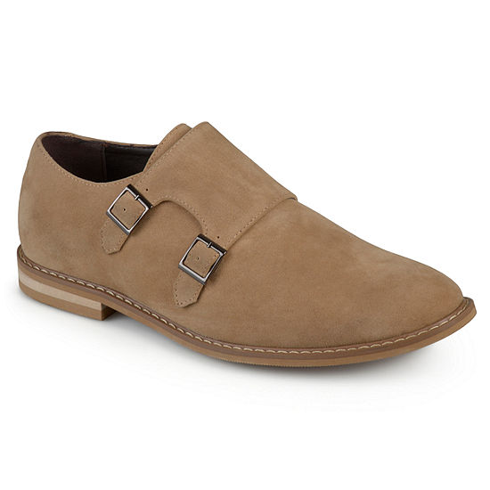 Vance Co Mens Isaac Monk-Strap Loafers Round Toe