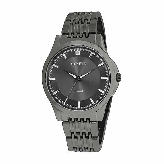 Geneva Mens Gunmetal Watch