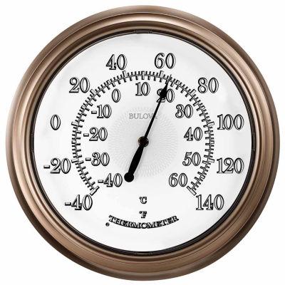 Bulova White Wall Clock-C4827