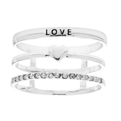 Itsy Bitsy Womens Crystal Stackable Ring