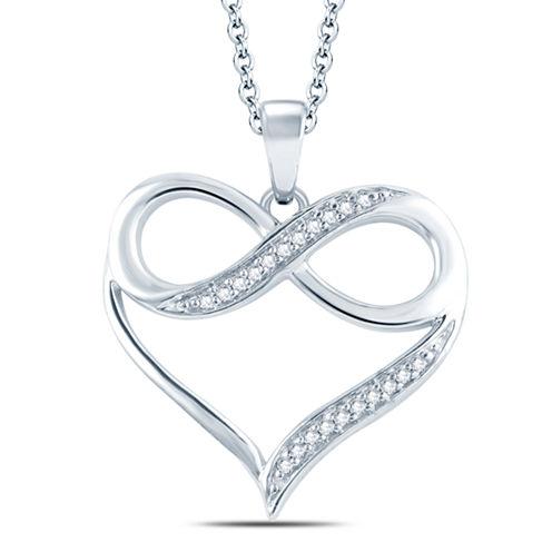 Womens Diamond Accent White Diamond Accent 10K Gold Pendant Necklace