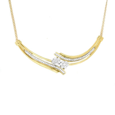 Diamond Blossom 10K Gold Chain Necklace